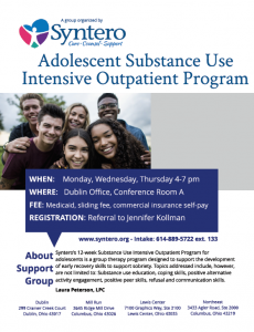 Adolescent Substance Use Intensive Outpatient Program